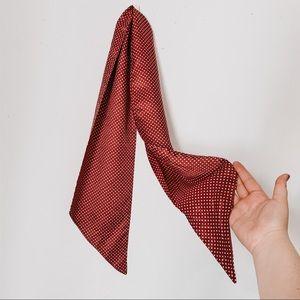 silky polka dot vintage hair scarf